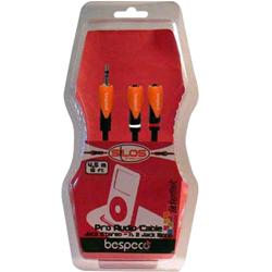 BESPECO SILOS Mini Jack Stereo 3,5 mm (M) -  2 x Mini Jack Stereo 3,5 mm (F) 1 mt.
